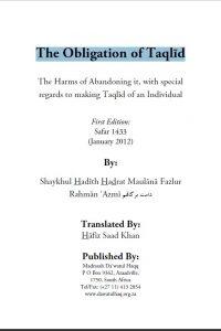 obligation of taqlid